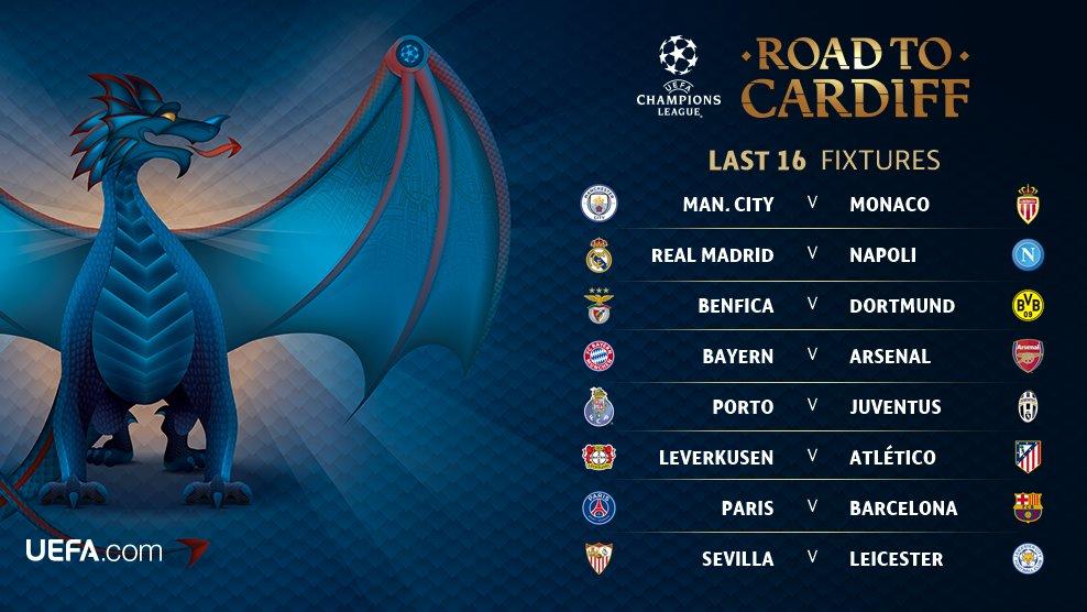Calendario Champions Ottavi.Champions League Ecco Il Calendario Con Le Date Degli