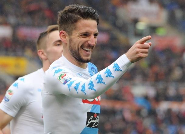 Mertens gol Roma Napoli Twitter