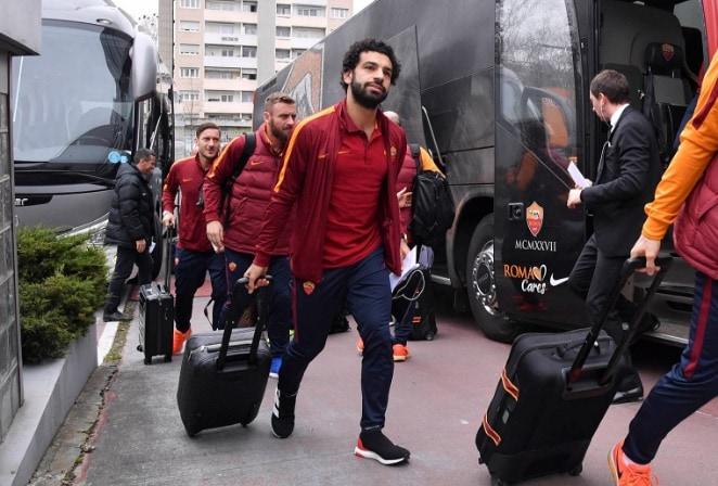 Salah arrivo a Lione Roma Twitter