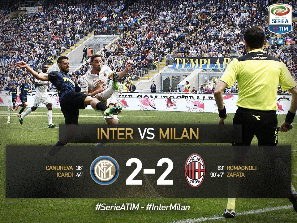 Zapata beffa l'Inter al 97': il primo derby cinese di Milano finisce 2-2 |  Alfredo Pedullà
