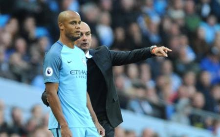 Kompany Guardiola Foto: The Sun