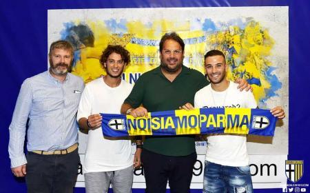 Insigne e Dezi con Faggiano annuncio Parma Twitter