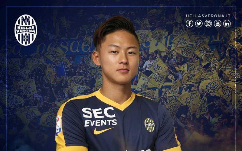 Lee Seung-Woo annuncio Verona Twitter