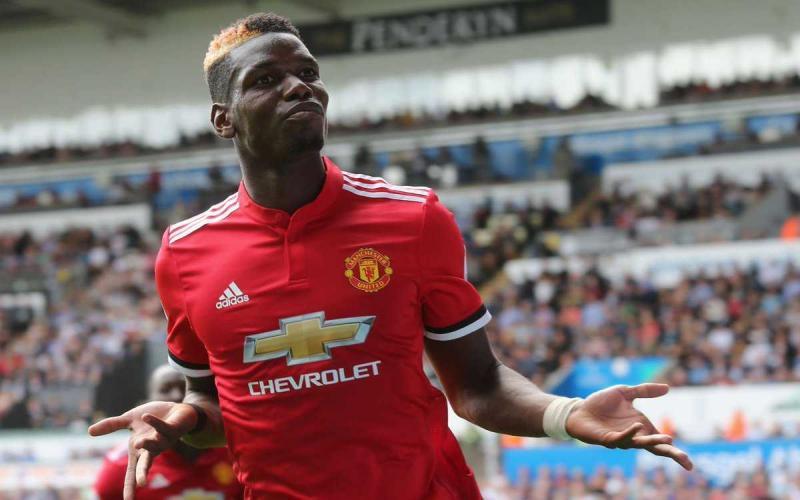 Pogba primo piano 2017-18 Manchester United Twitter