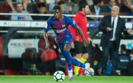 Dembélé in campo Barcellona Twitter