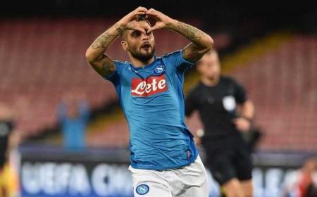 Insigne esultanza vs Feyenoord Foto Napoli Twitter
