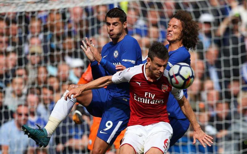 Morata David Luiz Koscielny Foto Arsenal Twitter