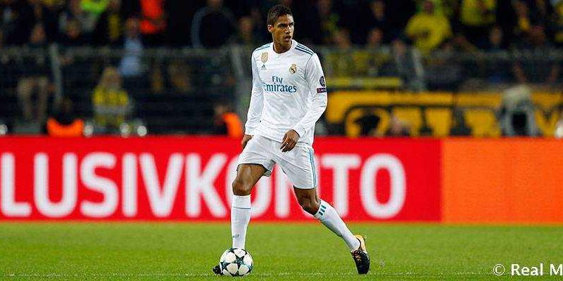 Varane sito uff Real Madrid