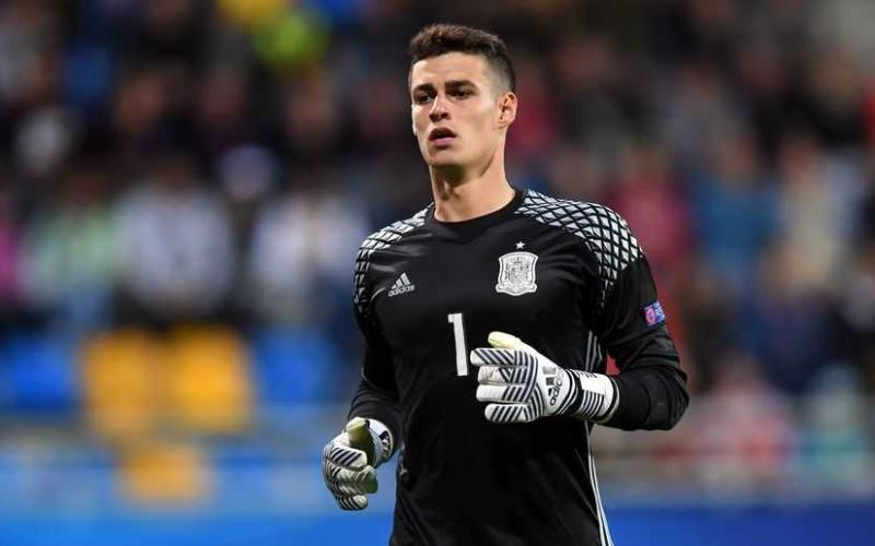 Spain's goalkeeper Kepa Arrizabalaga is seen during the UEFA U-21 European Championship Group B football match Spain v Macedonia in Gdynia, Poland on June 17, 2017. Spain won the match 5-0. / AFP PHOTO / Maciej GILLERT        (Photo credit should read MACIEJ GILLERT/AFP/Getty Images)