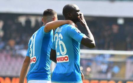 Koulibaly gol vs Cagliari Foto Napoli Twitter