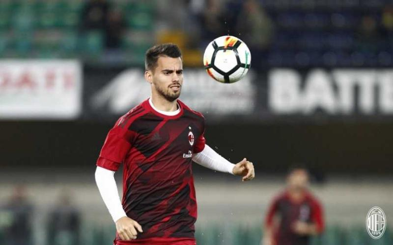 Suso training Milan Twitter