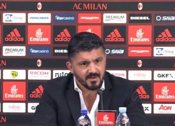 Gattuso conferenza presentazione Milan Twitter