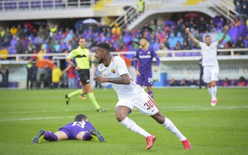 Gerson gol vs Fiorentina Foto Roma Twitter