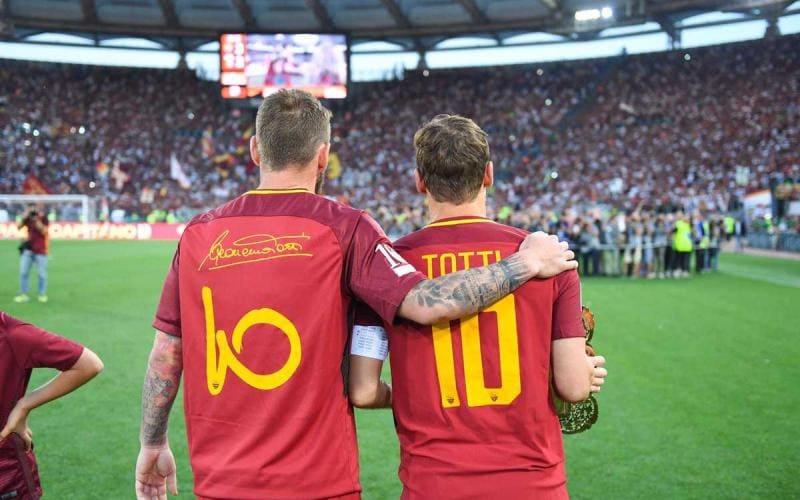 Totti e De Rossi Foto Totti Twitter