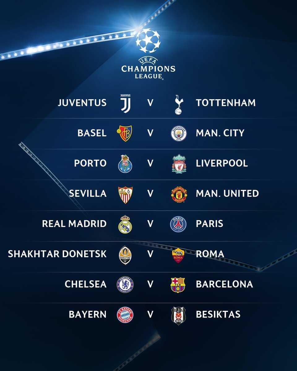 Calendario Champions Ottavi.Champions League Ecco Il Calendario Degli Ottavi Con Gli