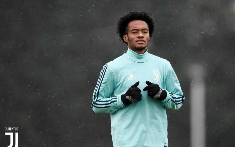 Cuadrado training Juventus Twitter