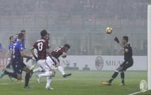 Cutrone gol vs Lazio Foto MIlan Twitter