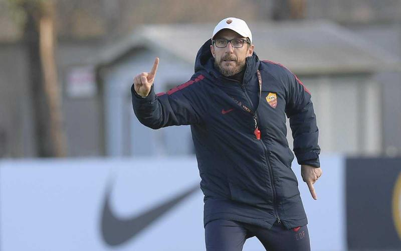 Di Francesco training Roma Twitter