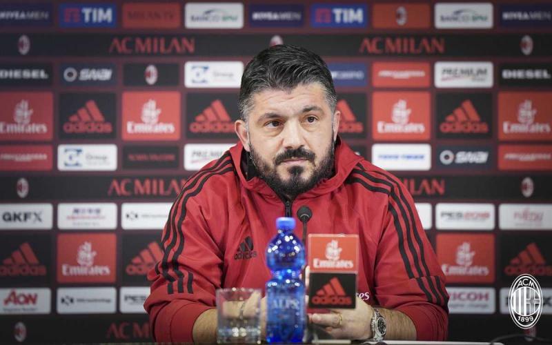 Gattuso conferenza Milan Twitter