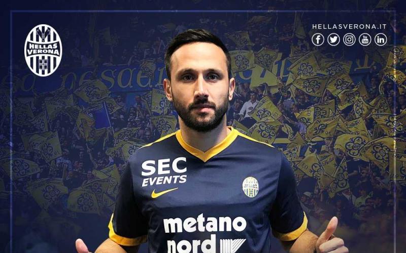 Vukovic Jagos annuncio Hellas Verona Twitter