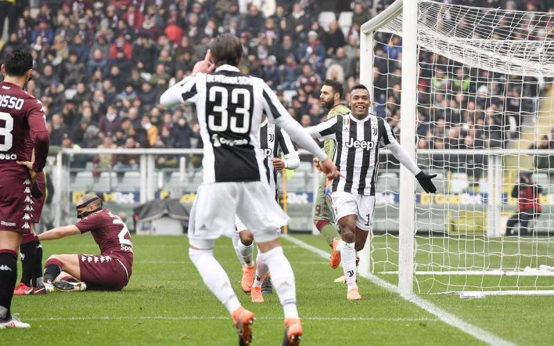 Alex Sandro gol vs Torino esultanza Foto Juventus Twitter