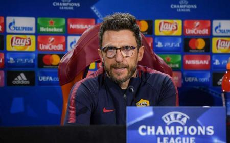 Di Francesco conferenza Champions Roma Twitter