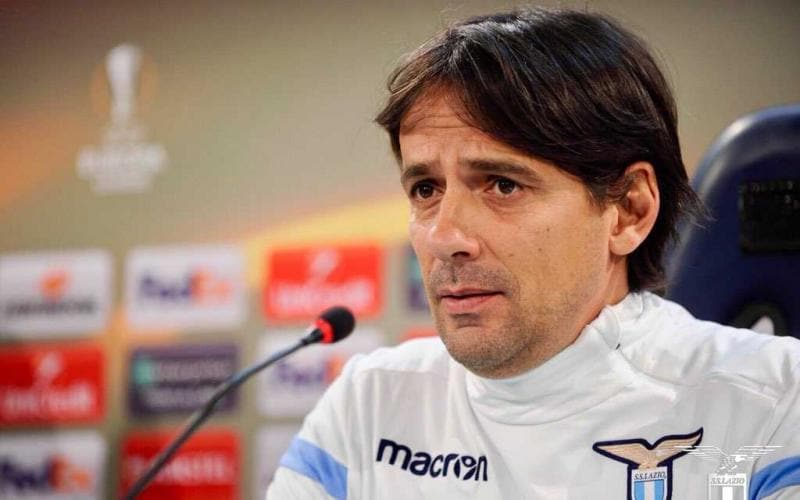 Inzaghi conferenza Europa League Lazio Twitter