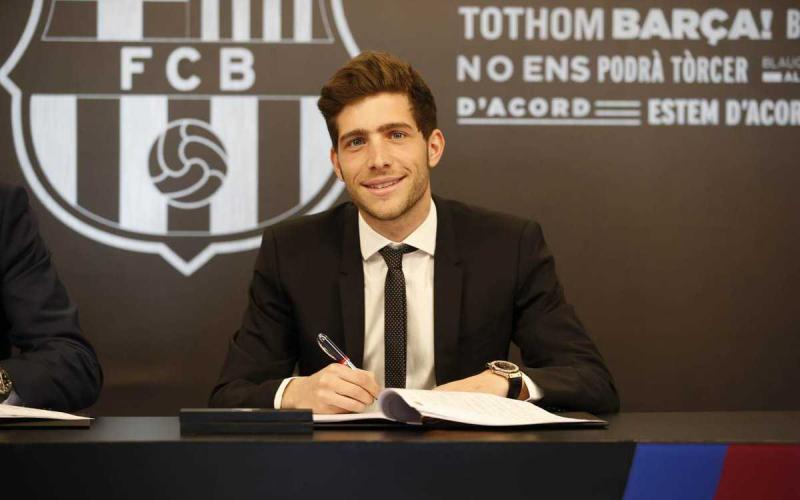 Sergi Roberto firma rinnovo Barcellona Twitter