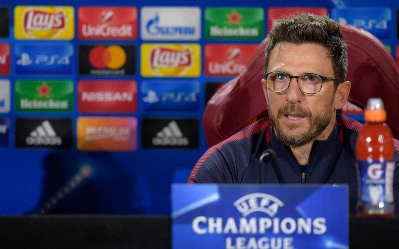 Di Francesco conferenza Champions League Roma Twitter