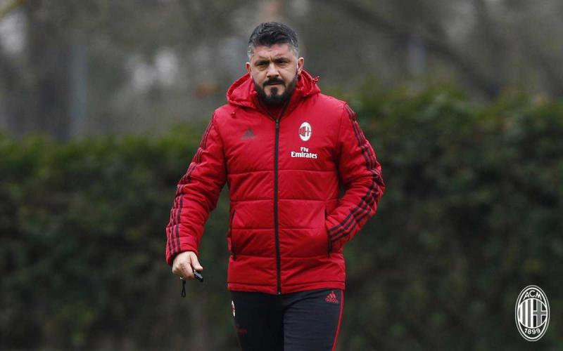 Gattuso Gennaro allenamento Milan Twitter