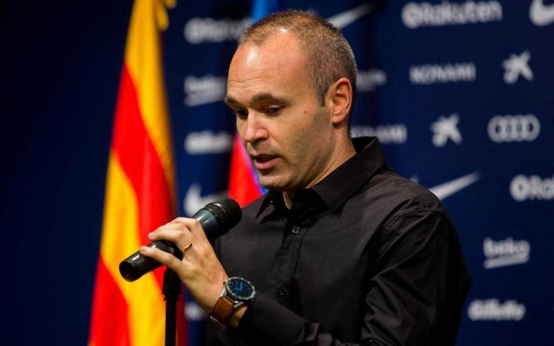 Iniesta conferenza Barcellona Twitter