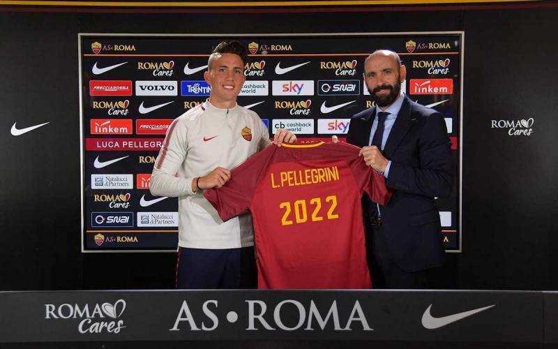 Pellegrini Luca rinnovo 2022 Foto Roma Twitter