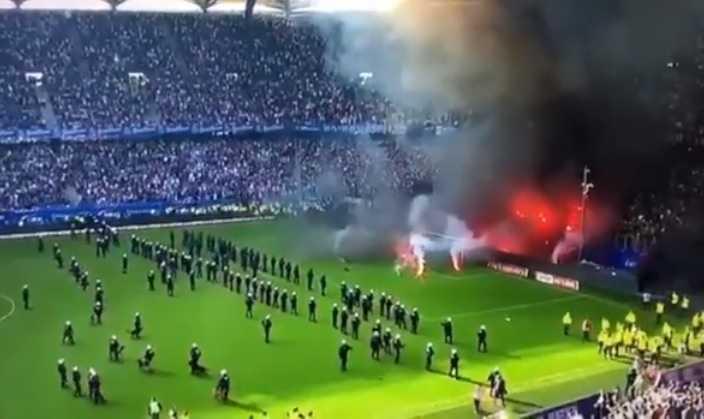 Amburgo tifosi dopo la retrocessione Foto You Tube