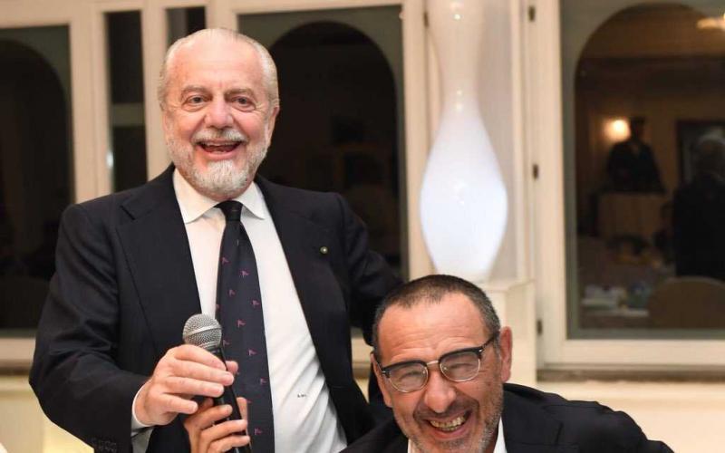 De Laurentiis + Sarri Twitter Napoli