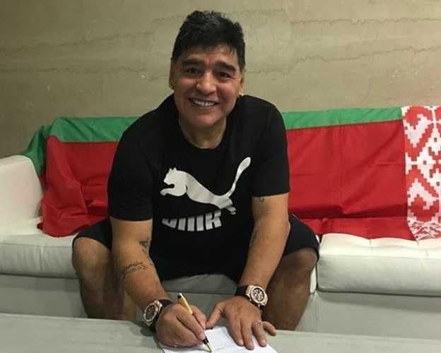 Maradona in Bielorussia Dinamo Brest Foto Instagram Maradona