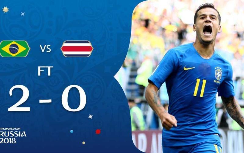 Brasile Costa Rica 2-0 Coutinho Fifa Twitter