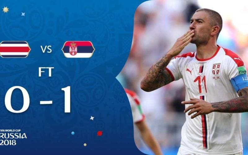 Costa Rica-Serbia 0-1 Kolarov Fifa Twitter