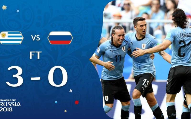 Uruguay Russia twitter Fifa world cup