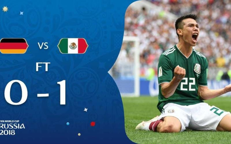 Germania-Messico 0-1 Lozano Fifa Twitter