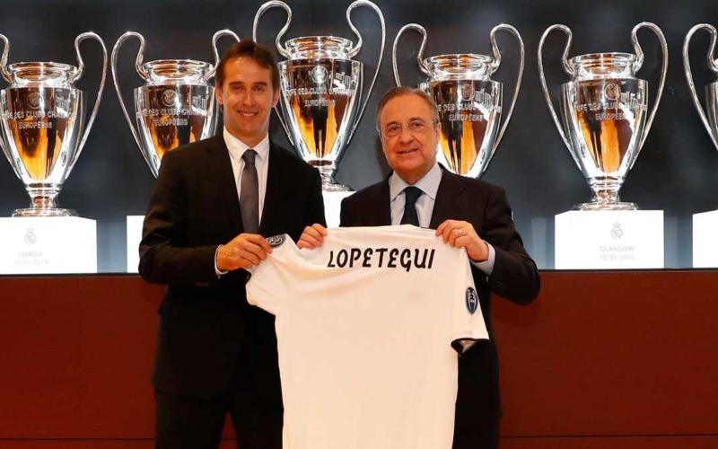 Lopetegui e Florentino Perez presentazione Real Madrid Twitter
