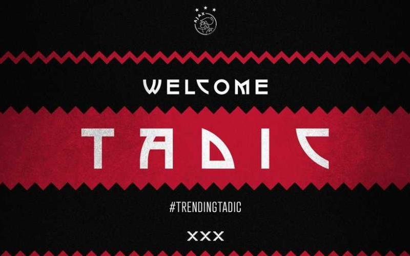 Tadic annuncio Ajax Twitter