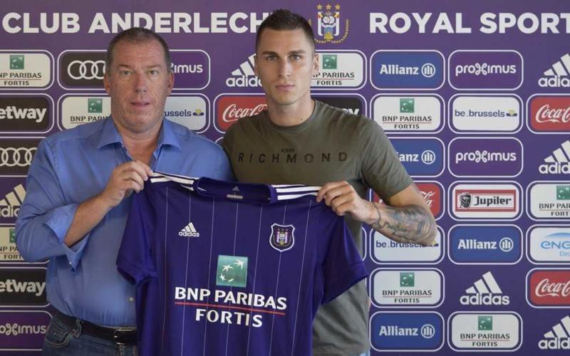 Vranjes anuncio Anderlecht Twitter
