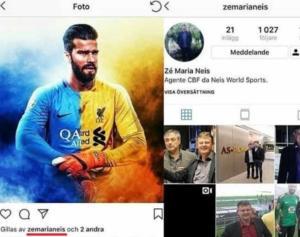 Alisson maglia Liverpool like agente Ze Maria Neis