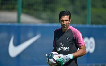 Buffon training Psg Twitter