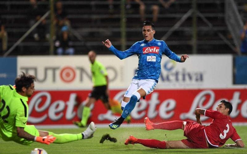 Callejon vs Carpi amichevole Napoli Twitter