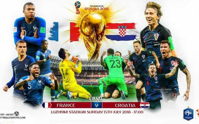 Francia Croazia grafica finale Foto jeffwallpapers