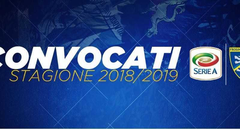 Frosinone convocati ritiro 18-19