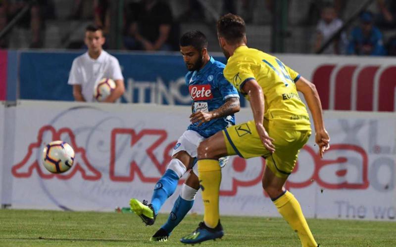 Insigne vs Chievo 18-19 Napoli Twitter