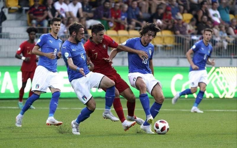 Italia Portogallo Finale Europeo Under 19 Foto vivoazzurro