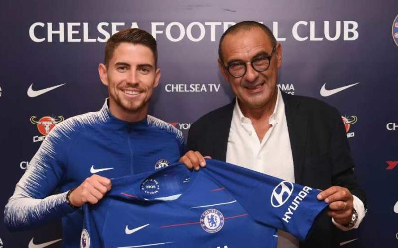 Jorginho e Sarri Chelsea sito ufficiale